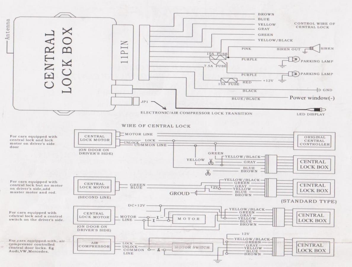 VW Golf - Schaltplan und Anschlussplan der Fernbedienung Jom 7105 ...