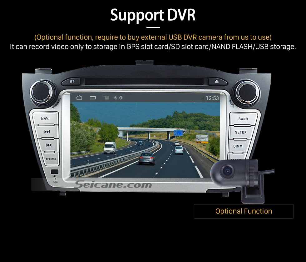 Alternatives Navi für Hyundai IX35 (DVD Player, Android, Wifi, IPOD